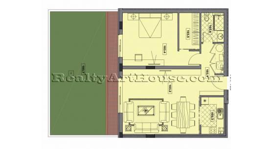 Апартаменти с индивидуални градини в затворен комплекс