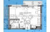 0367, 1-СТАЕН апартамент с голяма тераса