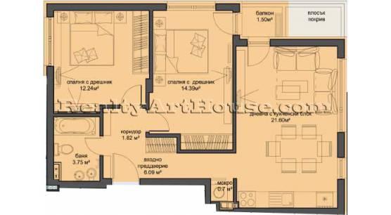 3-стаен луксозен апартамент в затворен комплекс