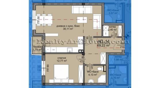 2-стайни апартаменти в новострояща се сграда кв. Люлин 8