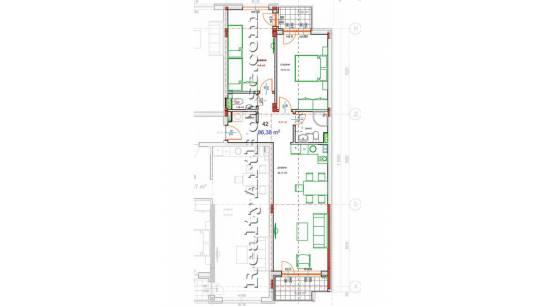 3-стаен апартамент, Зона Б-19