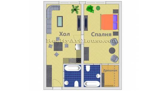 2-стаен апартамент в многофункционална сграда