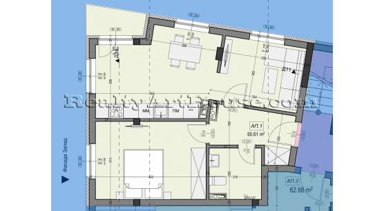 2-стаен апартамент в новострояща се сграда кв. Подуяне