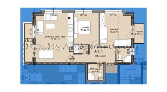 3-стайни апартаменти в новострояща се сграда кв. Люлин 8
