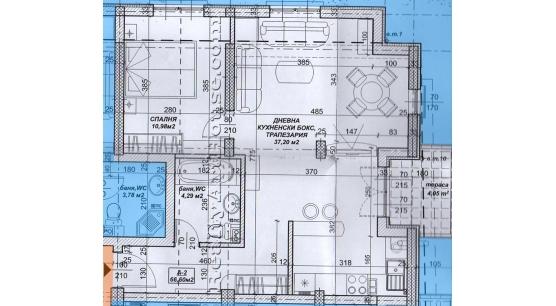 2-стаен апартамент №2 в нова сграда в Овча купел